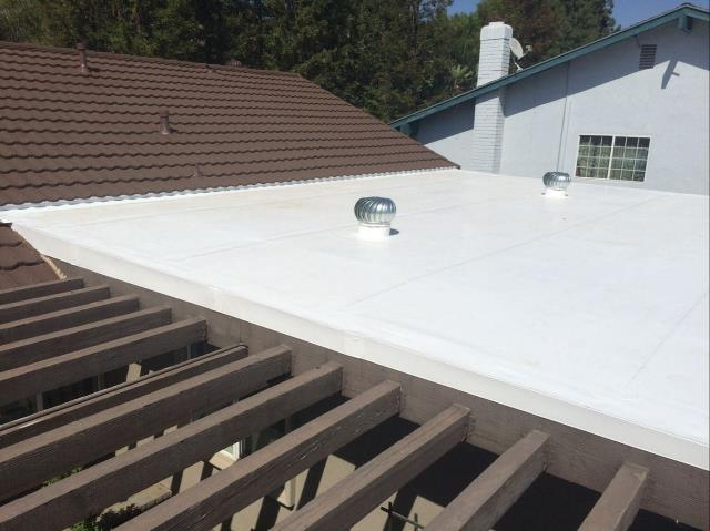 Moreno Valley, CA - Lastly we installed Single ply membrane-Mechanically attached- Carlisle/Versico . 60 Mil TPO Membrane Roof System.