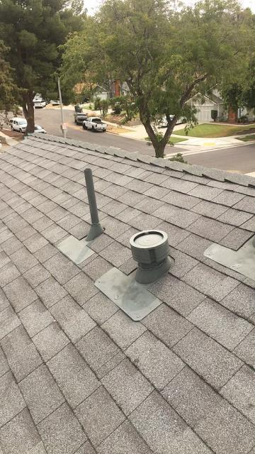 Riverside, CA - Lastly we installed Owens Corning Oakridge Cool Roofing Shingle Roof System along with ridgeglass hip and ridge caps.
