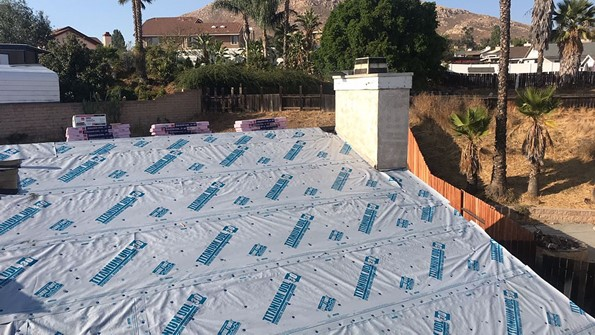 Moreno Valley, CA - We came out and removed 1 layer of composition roofing and installed 1 layer of Owens Coming Titanium 30.