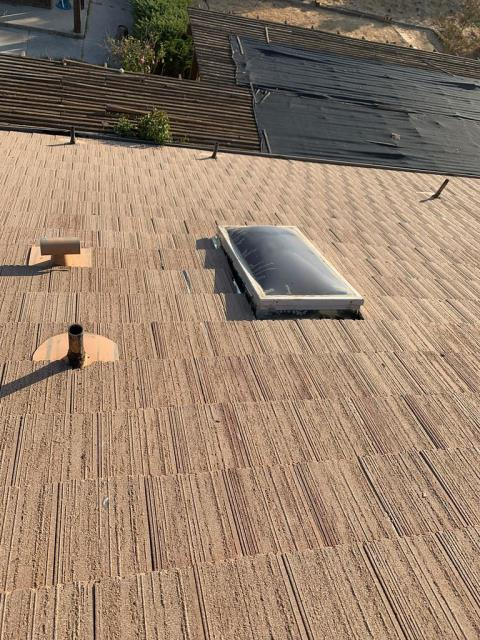 Moreno Valley, CA - We installed OSB Plywood and then finally re-installed the tile.