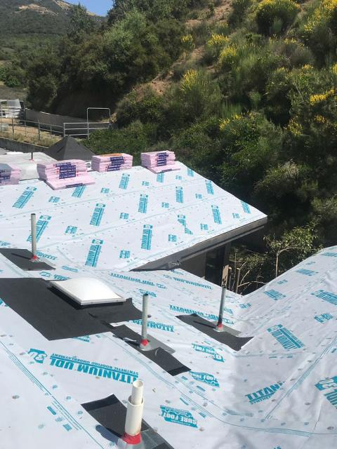 Yucaipa, CA - We installed Drip Edge Flashing around the perimeter of the home and supplied and installed 1 layer of Titanium UDL30 Owens Corning Standard Pitch.
