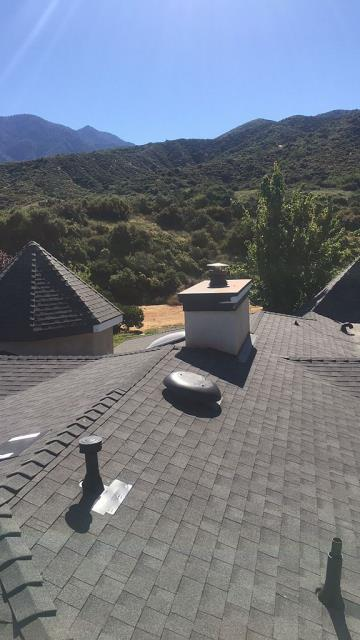 Yucaipa, CA - Finally, we installed the new Oakridge Starter Shingles with the Owens corning Tru Def Sure Nail Shingle Roof System.