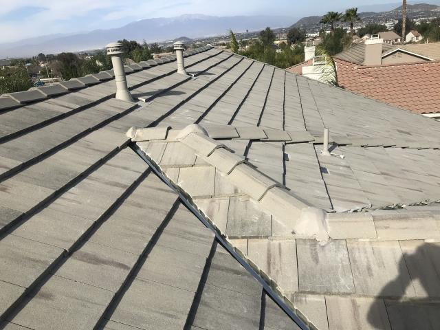 Corona, CA - Finally, we installed 1 layer of Boral Tile Seal HT underlayment with Boral Tile Seal and then re-installed existing tile while replacing broken tiles with closest match.