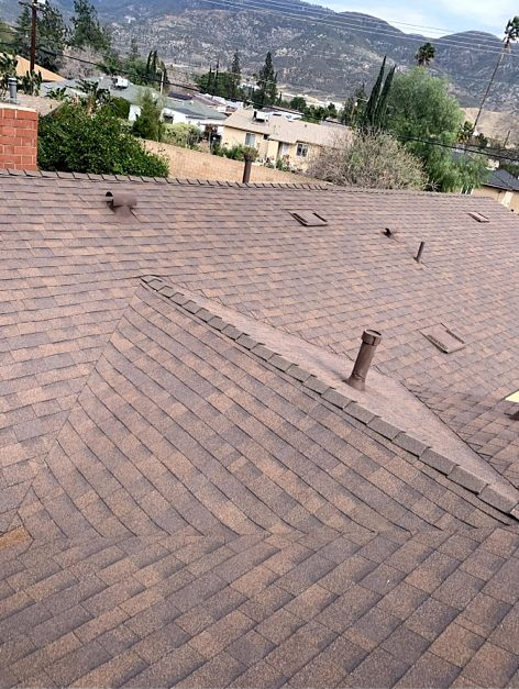 San Bernardino, CA - Finally, we installed all new Oakridge Starter Shingles. We also removed and replaced Pipe Jack Flashings.
