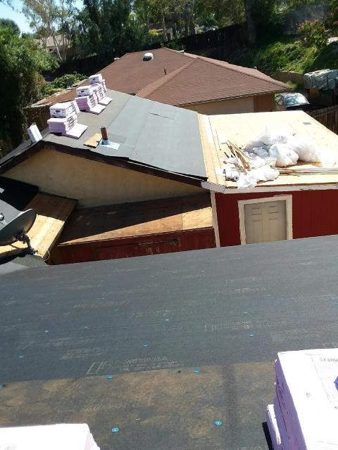 Temecula, CA - We removed two layers of composition roofing and then supplied and installed one layer of Fontana Felt Paper Standard Pitch.