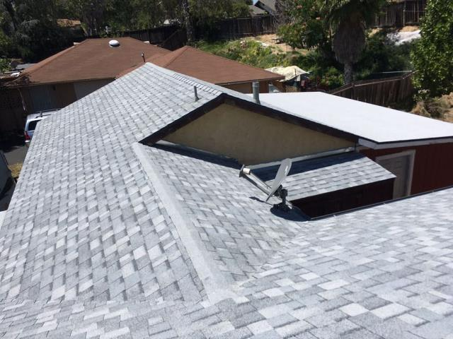 Temecula, CA - We installed Drip Edge Flashing around the perimeter of home then we finally installed the new Oakridge Starter Shingles with Owens Corner Sure Nail Shingle Roof System.