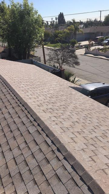 Pomona, CA - Finally, we installed Owens Corning Tru def duration Cool Roofing Shingle Roof System!