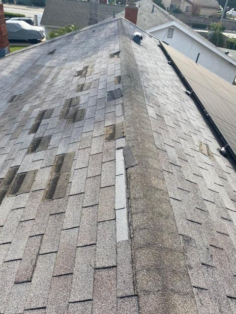 Chino, CA - This customer was looking to get a whole new roof as they had some missing and broken shingles.