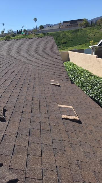 Corona, CA - Re-roof using Owens Corning Weather Lock - Ice and Water Shield Self-Sealing,  Owens Corning Tru Def Duration Sure Nail Shingle Roof System - Cool Roofing, Color Forest Brown