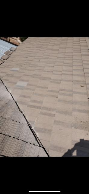 "Moreno Valley, CA - Roof repair using  Fontana Felt Paper, Fascia - 2"" x 8"" Doug Fir - primed-wood"