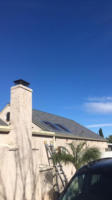 Riverside, CA - Re-roof, skylights Owens Corning Tru Def Duration Sure Nail Shingle Roof System - Cool Roofing, Mountainside, Skylight - 2' x 4' single dome , clear - acrylic