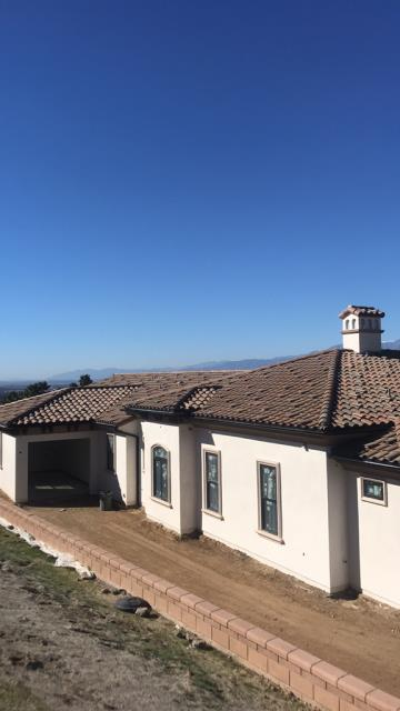 Riverside, CA -   Roof install using Monier Standard Weight Concrete Tile - Standard Blend, Selerno Clay Concrete Barcelona