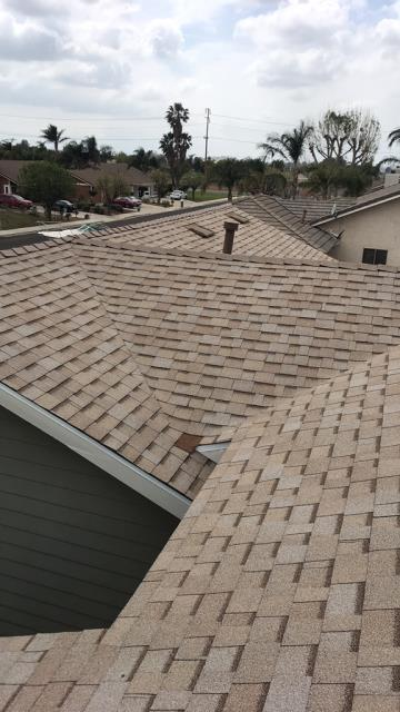 Riverside, CA - Re-roof using  Owens Corning Tru Def Duration Sure Nail Shingle Roof System - Cool Roofing, Color Amber