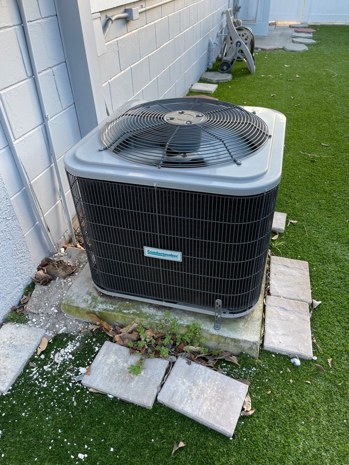 Replaced minor component on a comfortmaker condenser.