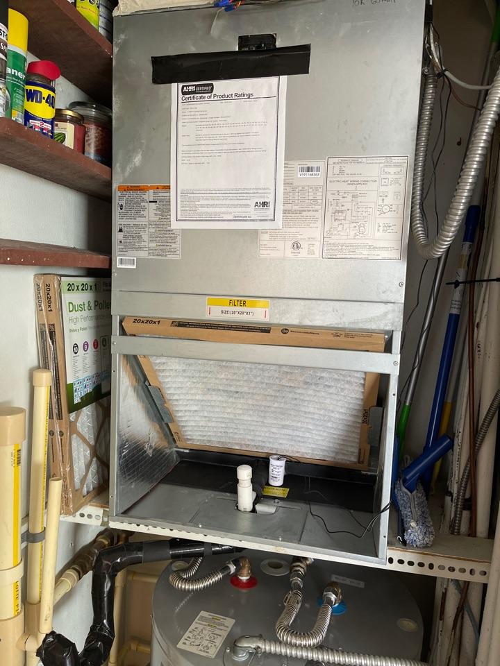 Maintenance on ICP split system