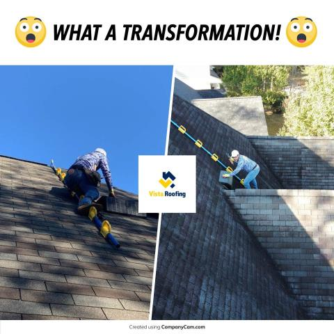Lexington, SC - Roof repairs completed to assist in real estate sale.  Always have the roof inspected by a professional roofing company before you buy the home.  Give Vista Roofing a call for all your roofing needs.