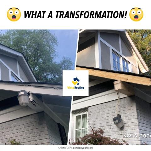 Columbia, SC - Historic home needing wood repairs done.  Have no fear, Vista Roofing is here!!!  www.vistaroofinginc.com or 803-391-4604