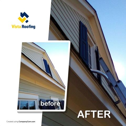 Lexington, SC - Completed a shingle repair today and noticed the shutters needed a little attention as well.  Always happy to give our customers a little extra to ensure they are happy with the end results!