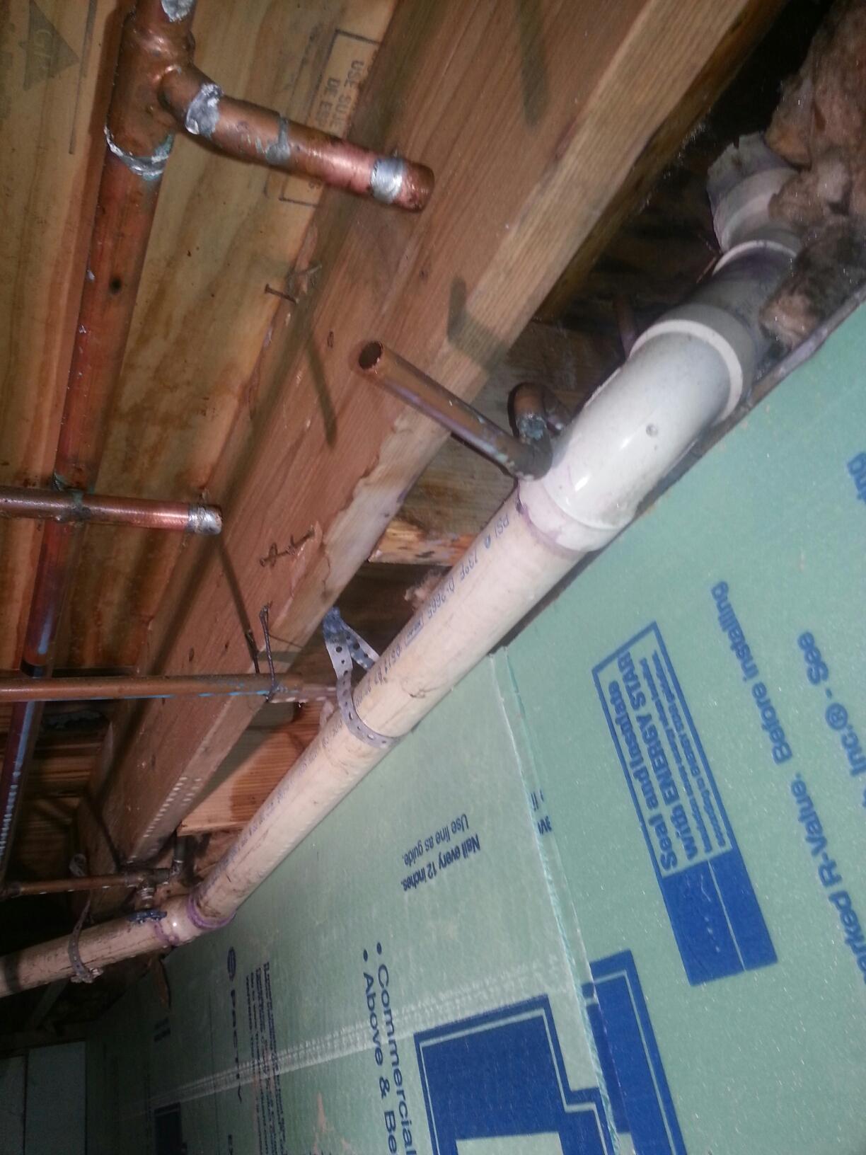 New Baltimore, MI - Burst line, burst pipe, crawl space, plumbing