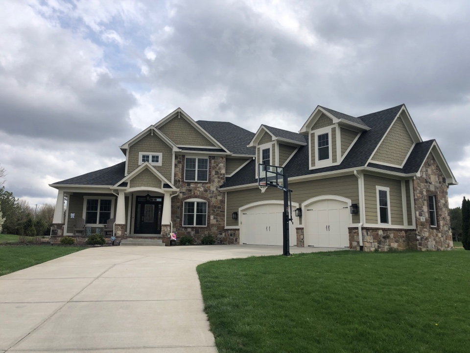 Carmel, IN - Roofing siding and gutters and paint