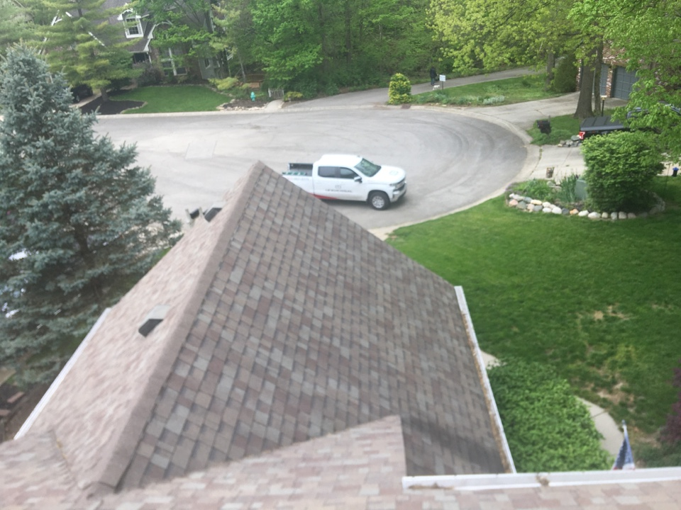 Indianapolis, IN - Conducting a roof inspection in Indianapolis, Indiana after homeowner suspected damage.