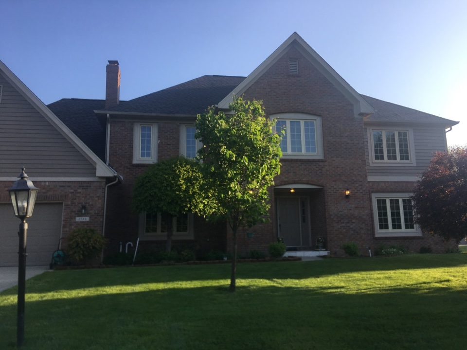 Carmel, IN - Visiting a returning customer to evaluate their home  and GAF shingles for hail damage.