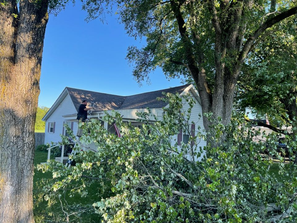 Shirley, IN - Hail and wind damage