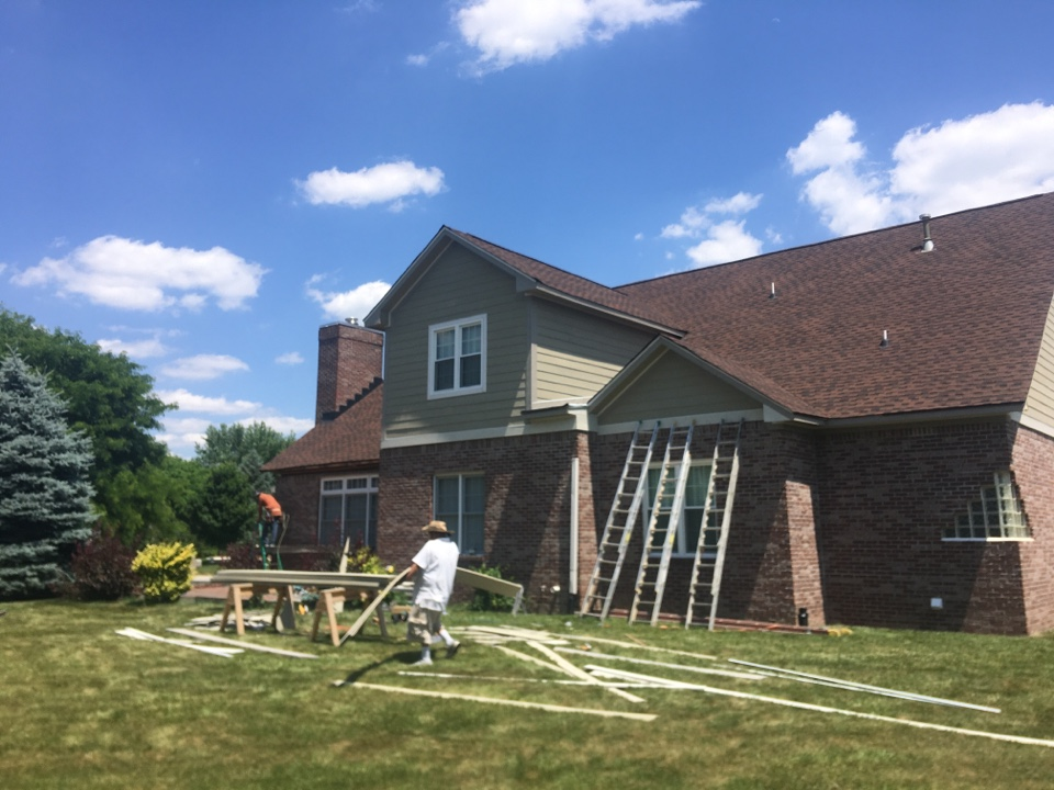 Carmel, IN - Hardie plank siding almost completed
