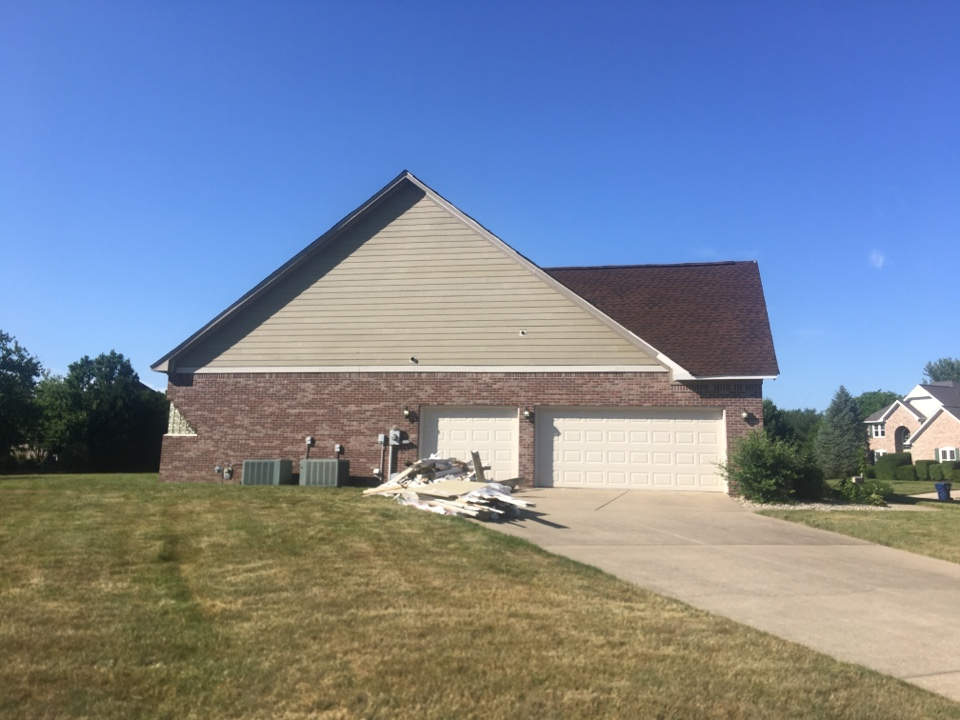 Carmel, IN - Siding completed ready for paint