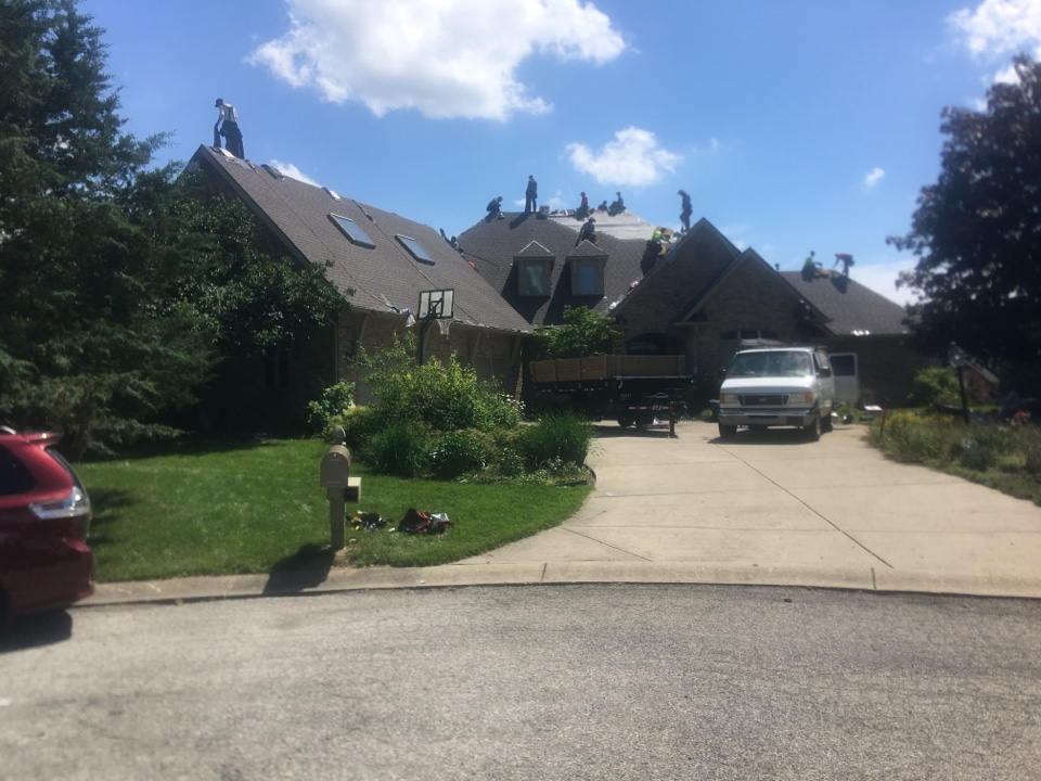 Zionsville, IN - Roof tear off 80% completed