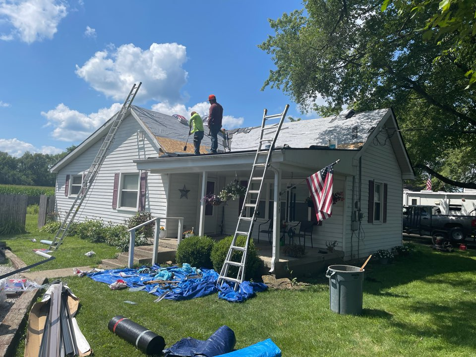 Shirley, IN - New roof being installed