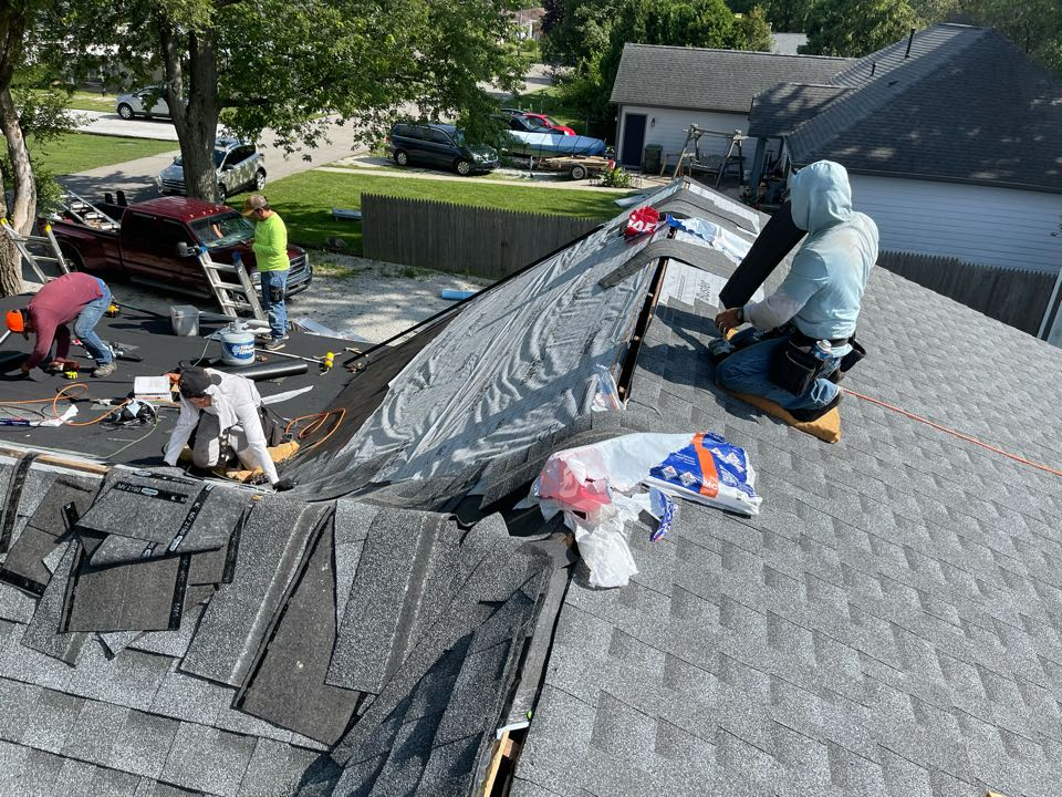 Shirley, IN - New roof almost completed