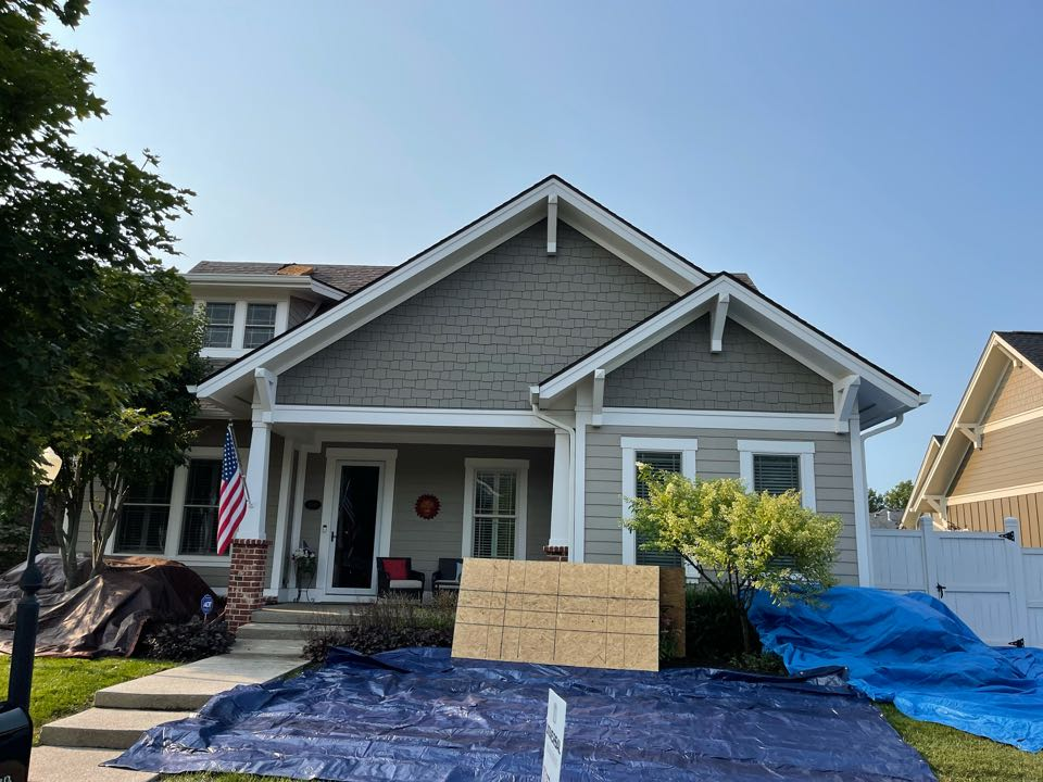 Carmel, IN -  We roof getting installed