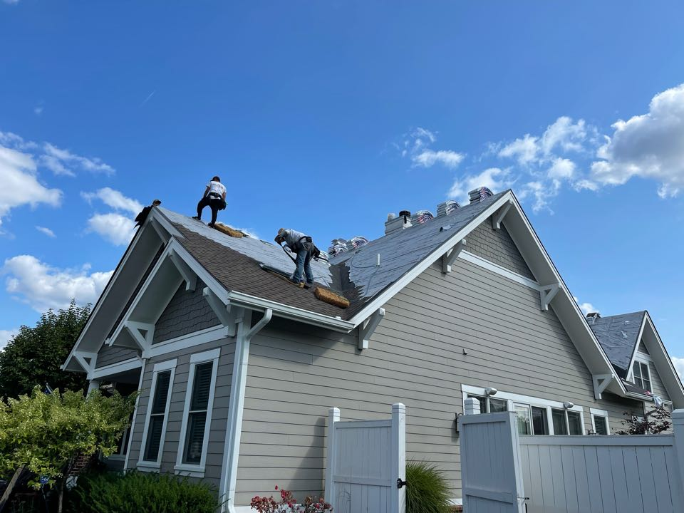 Carmel, IN - New roof being installed