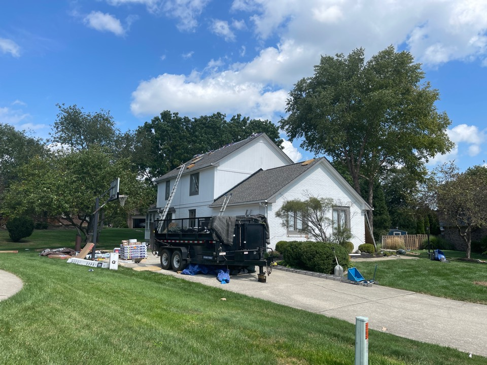 Carmel, IN - New roof going on