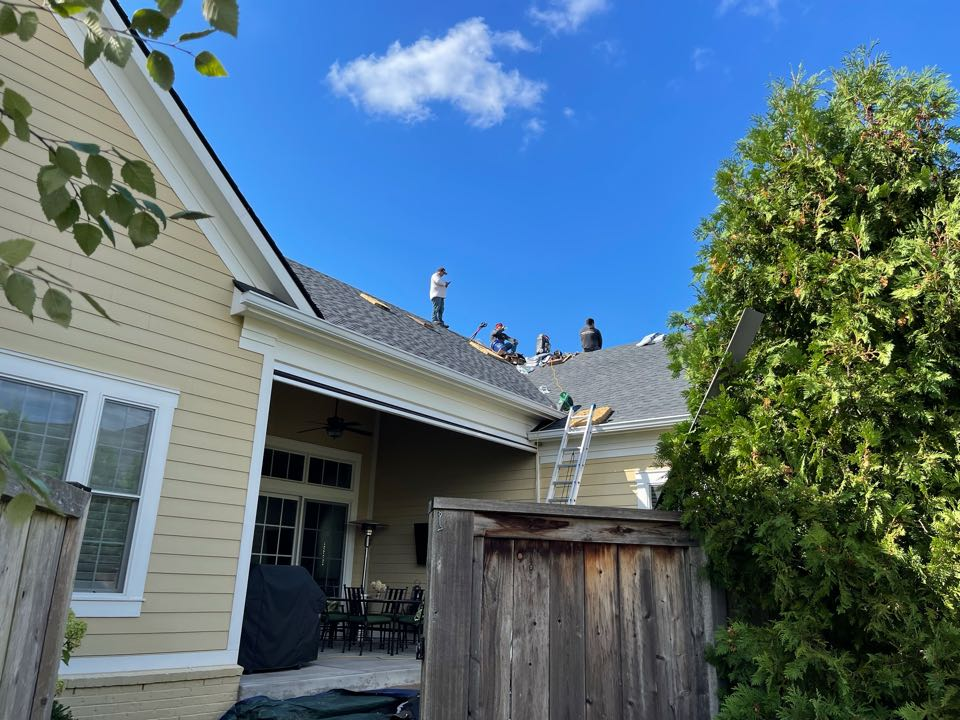 Carmel, IN -  We roof being installed