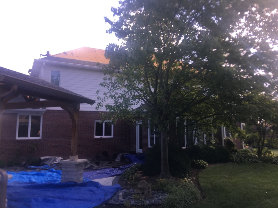 Carmel, IN - Roof tear off #2 90% torn off
