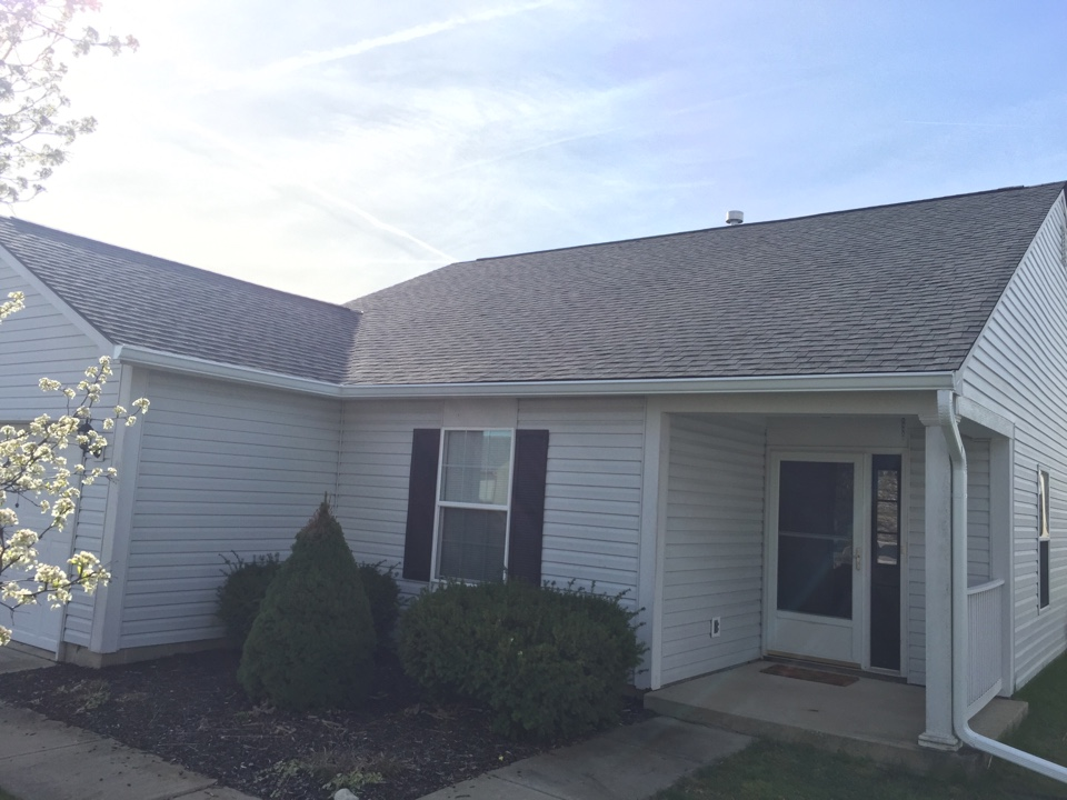 Fortville, IN - Brand new Lifetime Warranty Roof! The shingle is GAF Timberline HD. The color is Pewter Gray.