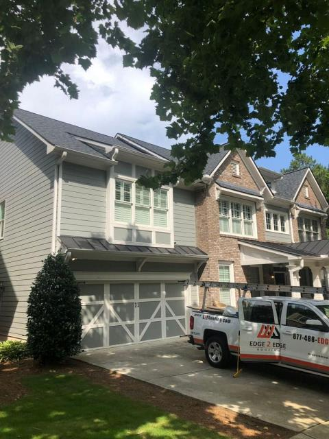 Suwanee, GA - Finished up a home in Suwanee, GA. Replaced with CertainTeed Landmark Architectural Shingles, looking great!