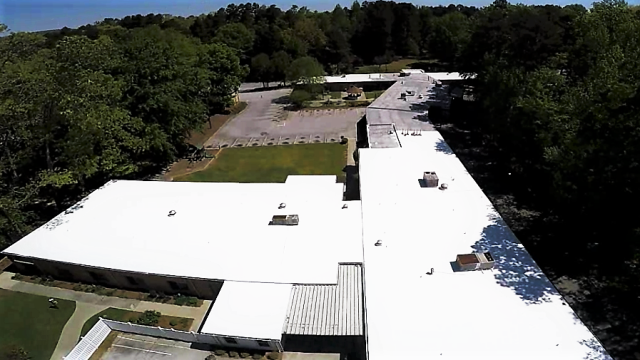 Dunwoody, GA - In Dunwoody GA looking at commercial roof. Building owner has several leaks and has a EPDM roof that is 15 years old that has not been maintained. We are purposing to install 60 mil TPO with tapered insulation to eliminate standing water on the flat roof