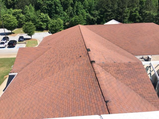 Decatur, GA - Starting a project for a church in Decatur, GA. The roof has endured storm damage and we will be replacing with GAF Timberline HD Shingles.