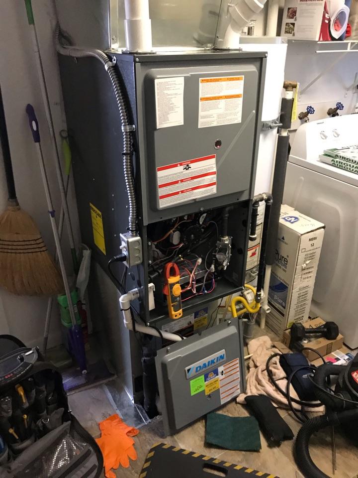 South Salt Lake, UT - Tune up a Daikin furnace with Nest thermostat.