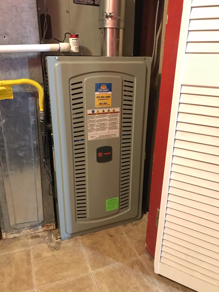 Taylorsville, UT - Tune up a Trane furnace with Honeywell thermostat