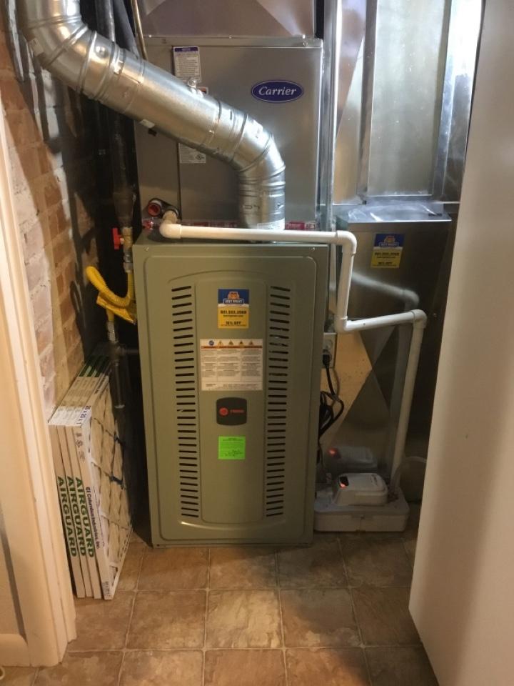 Centerville, UT - Install new trane s8x2 furnace