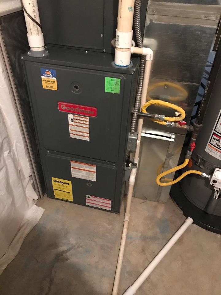 South Jordan, UT - Repair broken Goodman furnace.