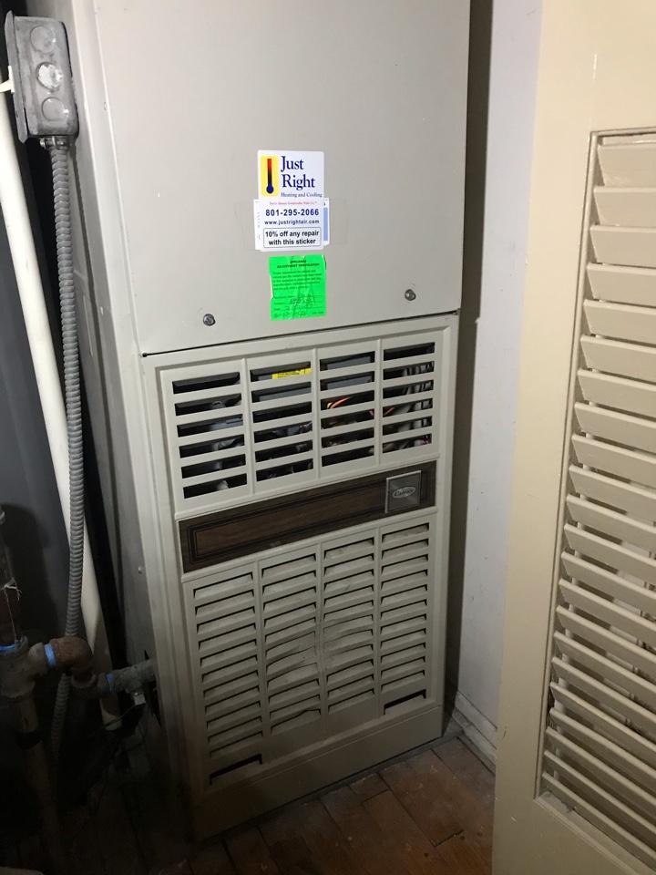 Midvale, UT - Repair broken Carrier furnace.