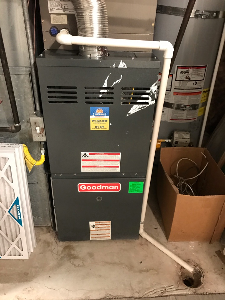 Taylorsville, UT - Tune up a Goodman furnace with Honeywell thermostat.
