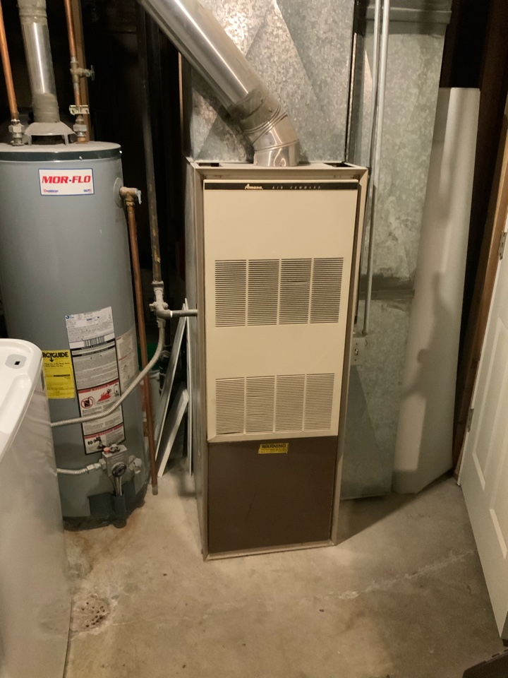 Taylorsville, UT - Giving an estimate to replace an original 1975 Amana furnace with a new high efficient dual fuel system. They have a swamp cooler and want to upgrade to central air. They also have high allergies and Asthma issues so I recommended our NovusAer filter system and a Guardian REME Halo.