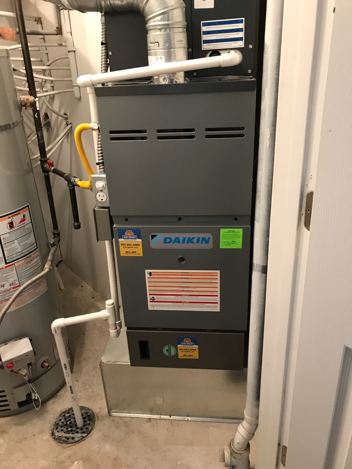 Magna, UT - Tune up a Daikin furnace with Honeywell thermostat.