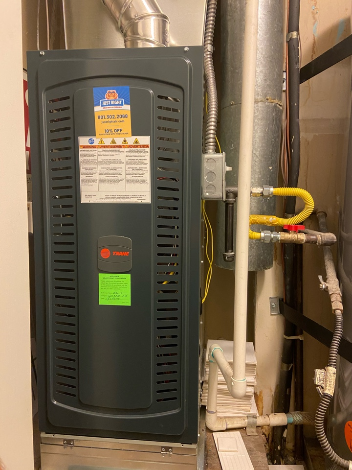 Midvale, UT - Tune up a Trane furnace with a Honeywell thermostat